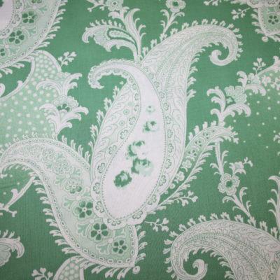 renee-d.de Onlineshop: baumwollstoff Paisley grün