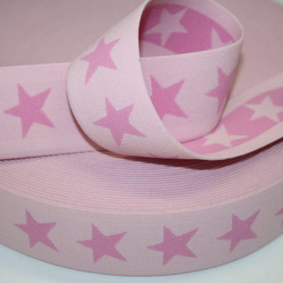 renee-d.de Onlineshop: Sternchen Gummiband 4 cm breit rosa