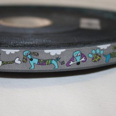 Artikel aus dem renee-d.de Onlineshop: Janeas World Webband Hunde grau