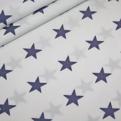 renee-d.de Onlineshop: Baumwollstoff grau Sterne