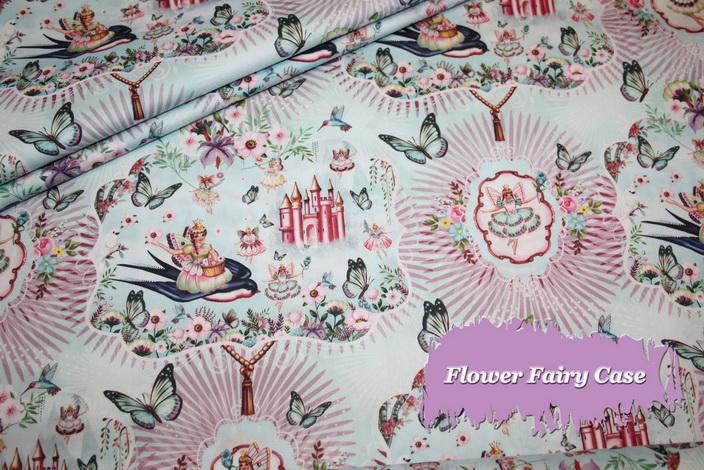 Fiona Hewitt Sehr edler Baumwollstoff Stoff Flower Fairy Castle