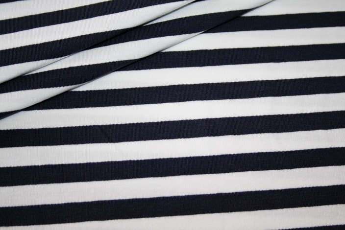 jersey stoff blau wei gestreift renee m rchenhaft sch ne stoffe. Black Bedroom Furniture Sets. Home Design Ideas