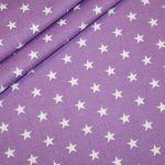 renee-d.de Onlineshop: Baumwollstoff kleinen Sterne flieder