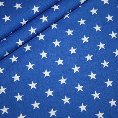 renee-d.de Onlineshop: Baumwollstoff kleinen Sterne royalblau