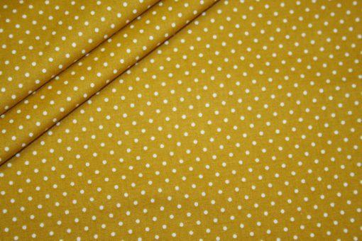 renee-d.de Onlineshop: Baumwollstoff kleinen Punkte senf