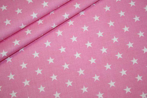 renee-d.de Onlineshop: Baumwollstoff kleinen Sterne rosa