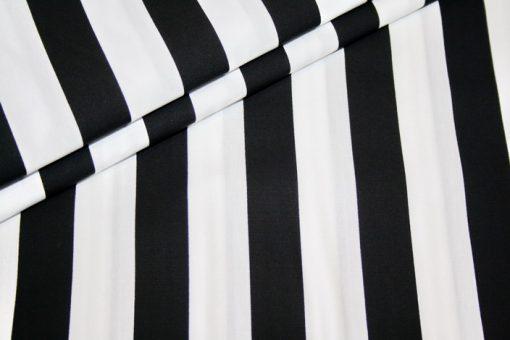 renee-d.de Onlineshop: Baumwollstoff breite Streifen schwarz weiß