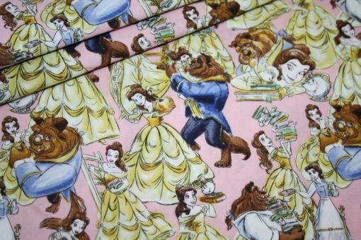 renee-d.de Onlineshop: Original Walt Disney Baumwollstoff Die Schöne und das Biest