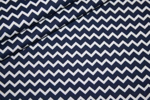 renee-d.de Onlineshop: Baumwollstoff Mini Chevron blau