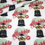 Stenzo Jersey Stoff Digitaldruck Bubble Gum Automat weiß