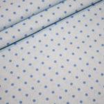 Swafing`s Wanda Baumwollstoff kleine Punkte blau