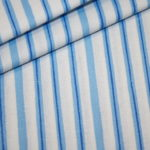 Swafing`s Wanda Baumwollstoff Streifen blau
