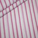 Swafing`s Wanda Baumwollstoff Streifen rosa
