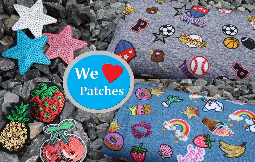 Coole Pailetten Patches!
