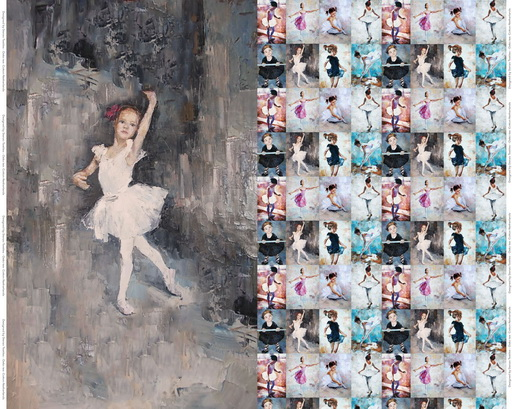 Stenzo Jersey Stoff Digitaldruck Ballerina großes Panel