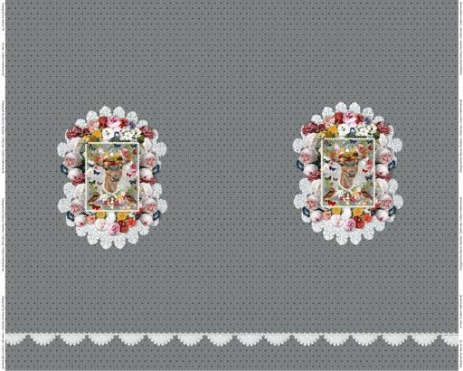 Stenzo Jersey Stoff Digitaldruck kleines Reh grau großes Panel