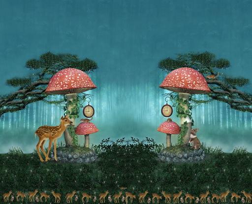 Stenzo Jersey Stoff Digitaldruck kleines Reh großes Panel