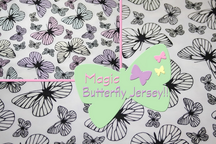Magic Light Schmetterlinge Jersey Stoff!