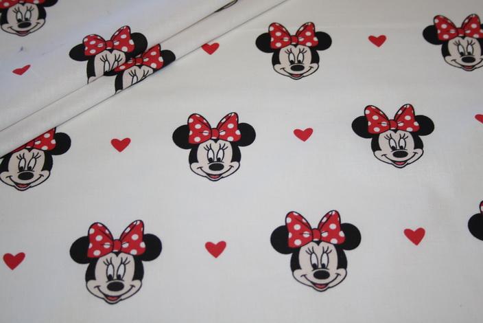 Original Walt Disney Baumwollstoff Minnie Maus