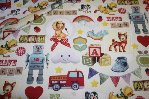 renee-d.de Onlineshop: Baumwollstoff nostalgische Spielsachen