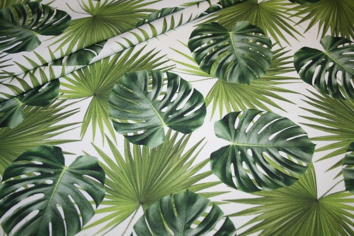 Fotoprint Digitaldruck Dekostoff Blätter
