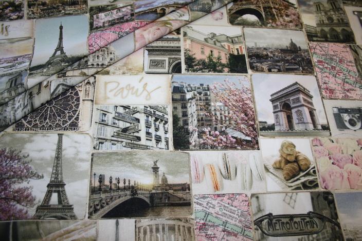 Fotoprint Digitaldruck Dekostoff Paris Frankreich