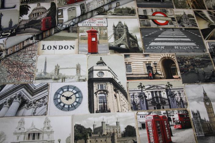 Fotoprint Digitaldruck Dekostoff London England