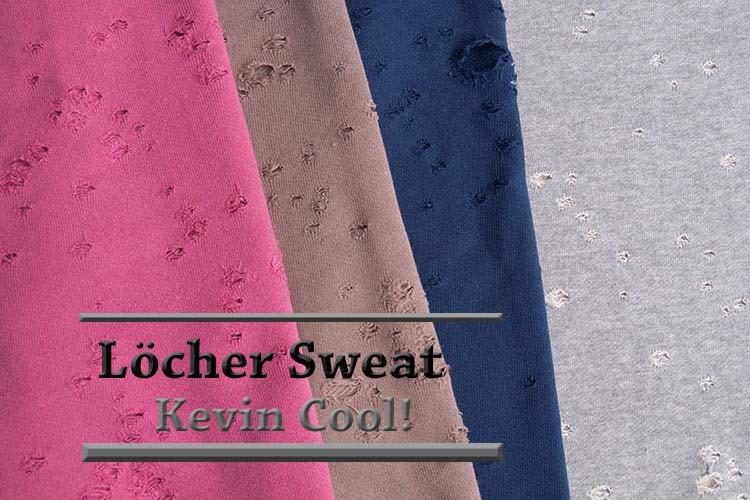 Kevin Cool! Löcher Sweat