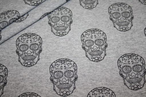 renee-d.de Onlineshop: Sweatshirt Stoff Totenkopf
