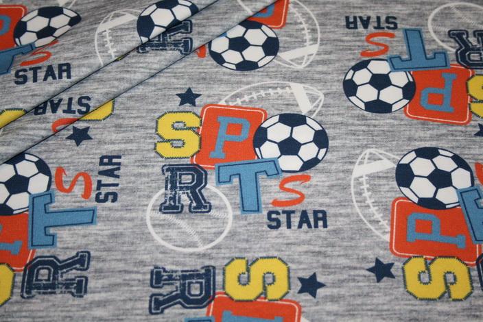 Hilco dünner Sweat Stoff All Star Bälle Sport