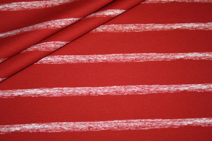 Hilco Jersey Stoff Streifen rot weiß