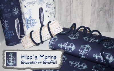 Maritime Sweatshirt Stoffe!!