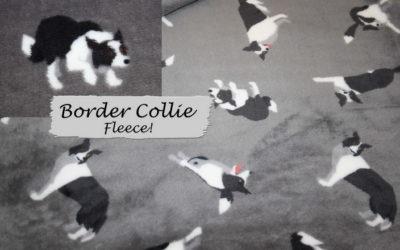 Border Collie Fleece Stoff!!
