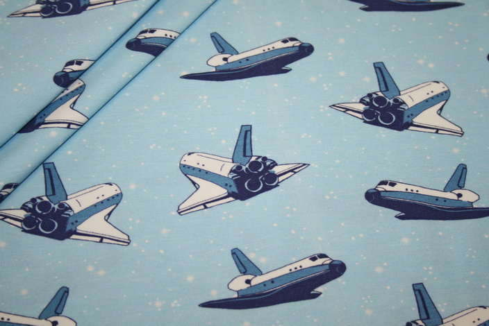 Hilco Jersey Stoff by Jatiju Space Shuttle
