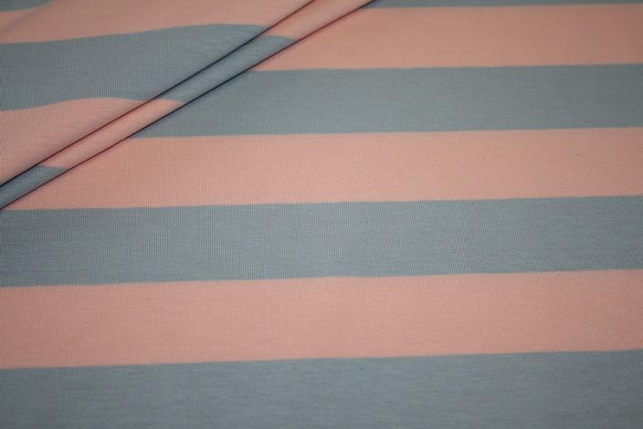 Swafings Jersey Stoff Breite Streifen koralle grau