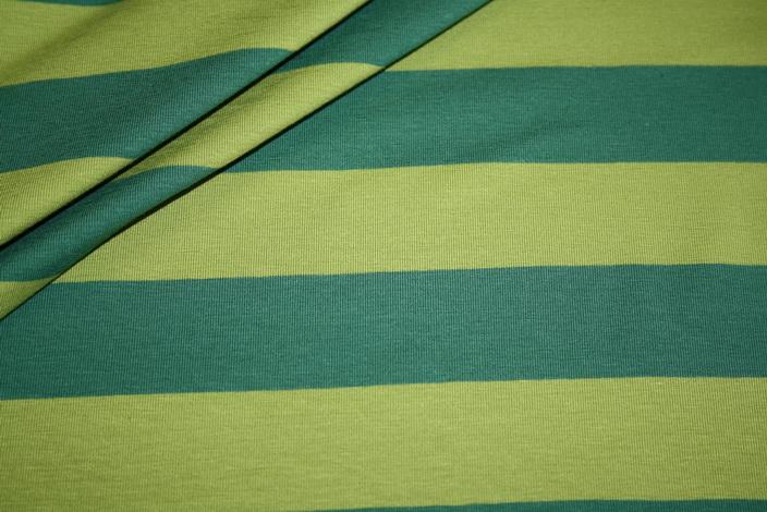 Swafings Jersey Stoff Breite Streifen grün