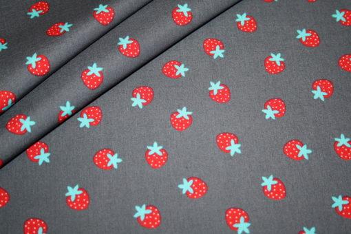 renee-d.de Onlineshop: Baumwollstoff Erdbeeren