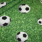 Deko Baumwollstoff Stoff Fußball