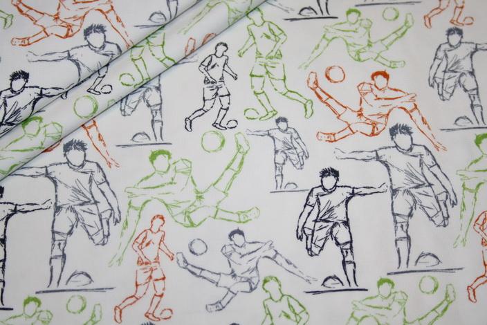 renee-d.de Onlineshop: Hilco Jersey Stoff I`m sew happy Fußball Jersey
