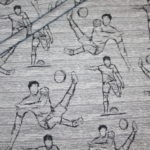 Hilco Jersey Stoff I`m sew happy Fußball Serie grau Spieler