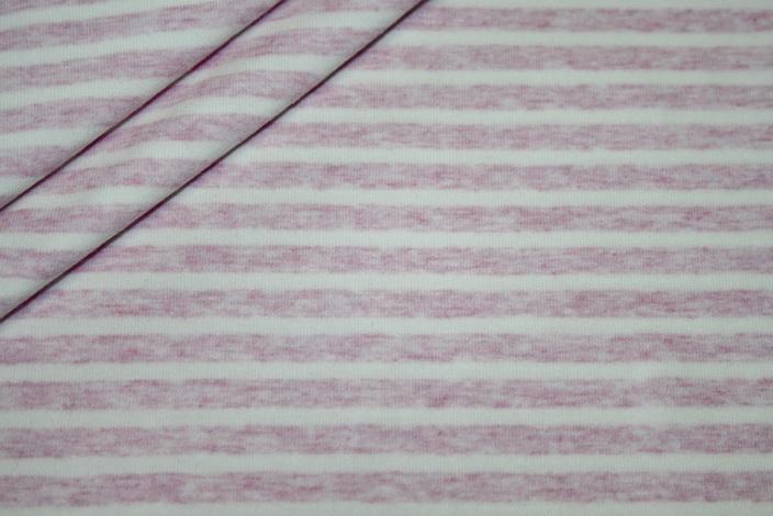 Jersey Stoff rosa weiß Streifen