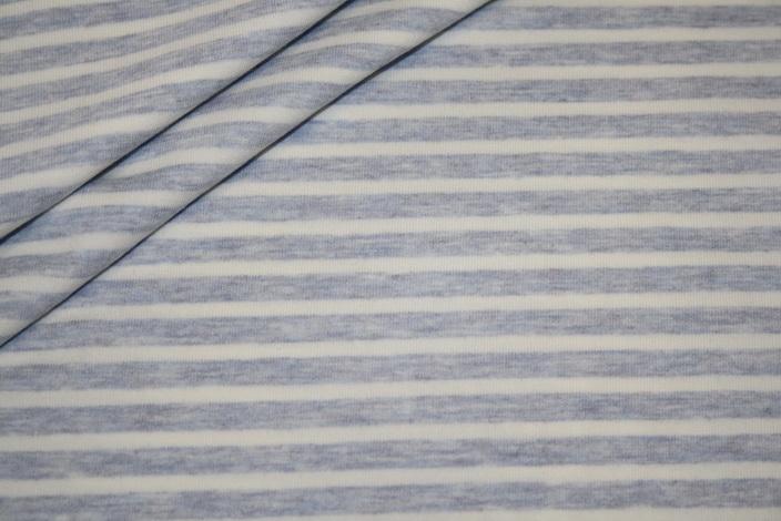 Jersey Stoff hellblau weiß Streifen