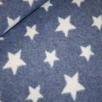 Organic Cotton Fleece Stoff jeansblau Sterne