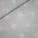 Organic Cotton Fleece Stoff mint türkis Sterne