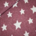 Organic Cotton Fleece Stoff altrosa Sterne