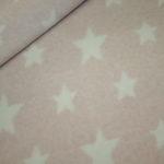 Organic Cotton Fleece Stoff puder Sterne