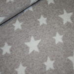 Organic Cotton Fleece Stoff hell beige  Sterne