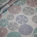 Bio Cotton Sweatshirt Stoff grau meliert pastell große Blumen