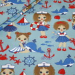 Stenzo Jersey Stoff blau Little Sailor Girl
