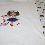 Stenzo Jersey Stoff Maritim Little Sailer Girl blau türkis